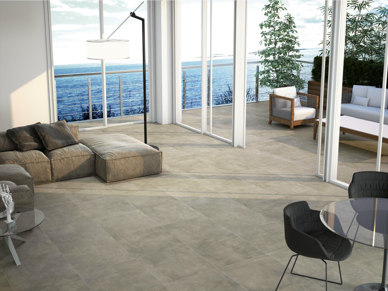 Pavimento de gres porcel nico efecto concreto para - Suelos de gres catalogo ...