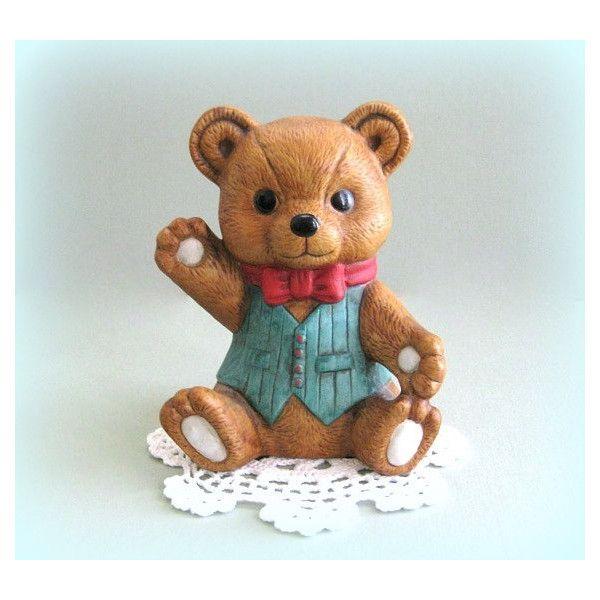Teddy Bear Decor Ornament Vintage By Aflaffair