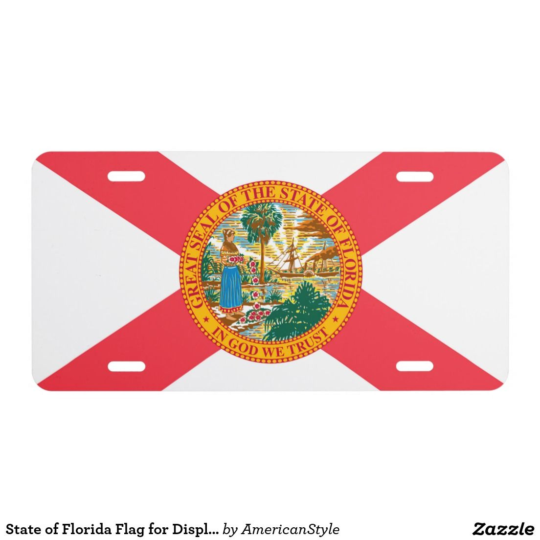State of Florida Flag  - Car Floor Mats License Plates, Air Fresheners, and other Automobile Accessories