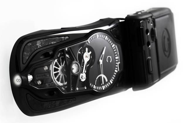 The Celsius X VI II OptiC GMT Furtif with a mysterious