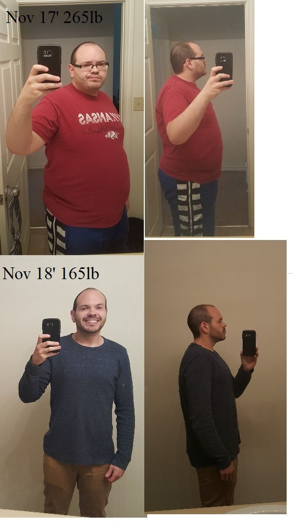 """M/30/5'8"""" [265lbs > 165lbs = 100lbs] (1 year) CICO IF flexible macros. I  lost 20 in the first 3 months and gave up complet…"""