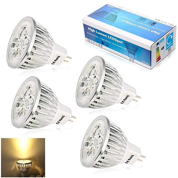Elinkume Mr16 Led Light Bulb Pack Of 4 Warm White Amazon Com Mr16 Led Bulbs Led Bulb Halogen Bulbs