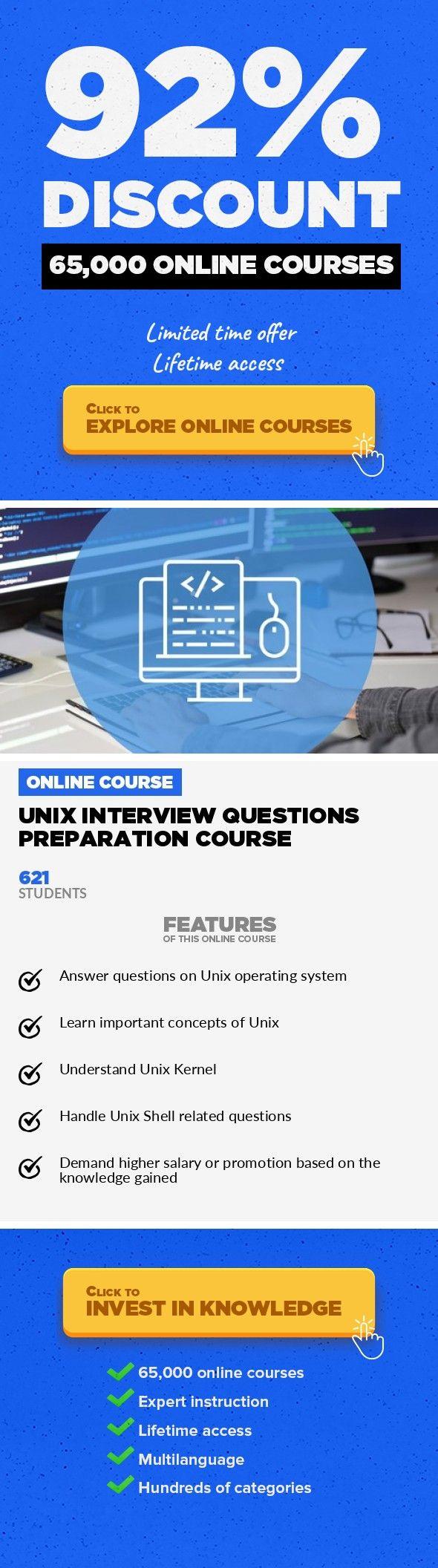 Unix Interview Questions Preparation Course Software Engineering,  Development #onlinecourses #socialskills #startingonlinebusiness Learn Top  50 Pou2026