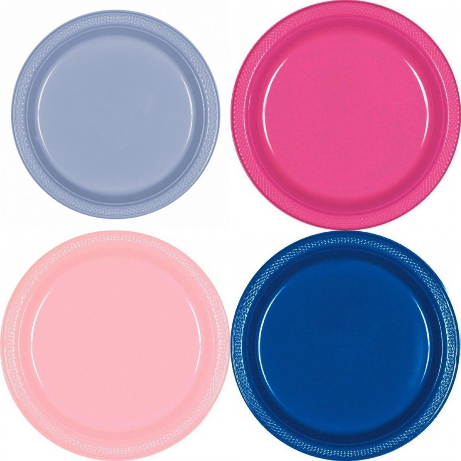 Amscan 7In Solid Color Plastic Plates (Pack Of 20) | Products ...