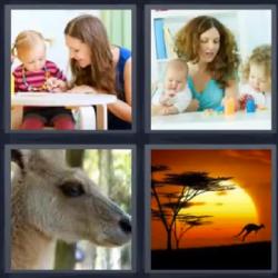 4 fotos 1 palabra canguro niños 4Fotos | 4