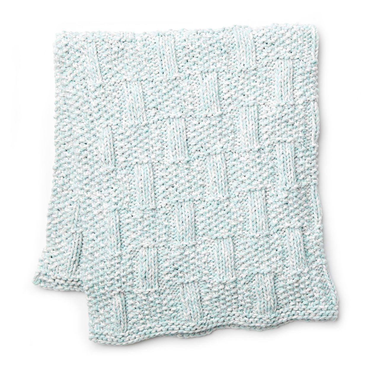 Bernat Box Stitch Knit Baby Blanket | Baby blanket ...