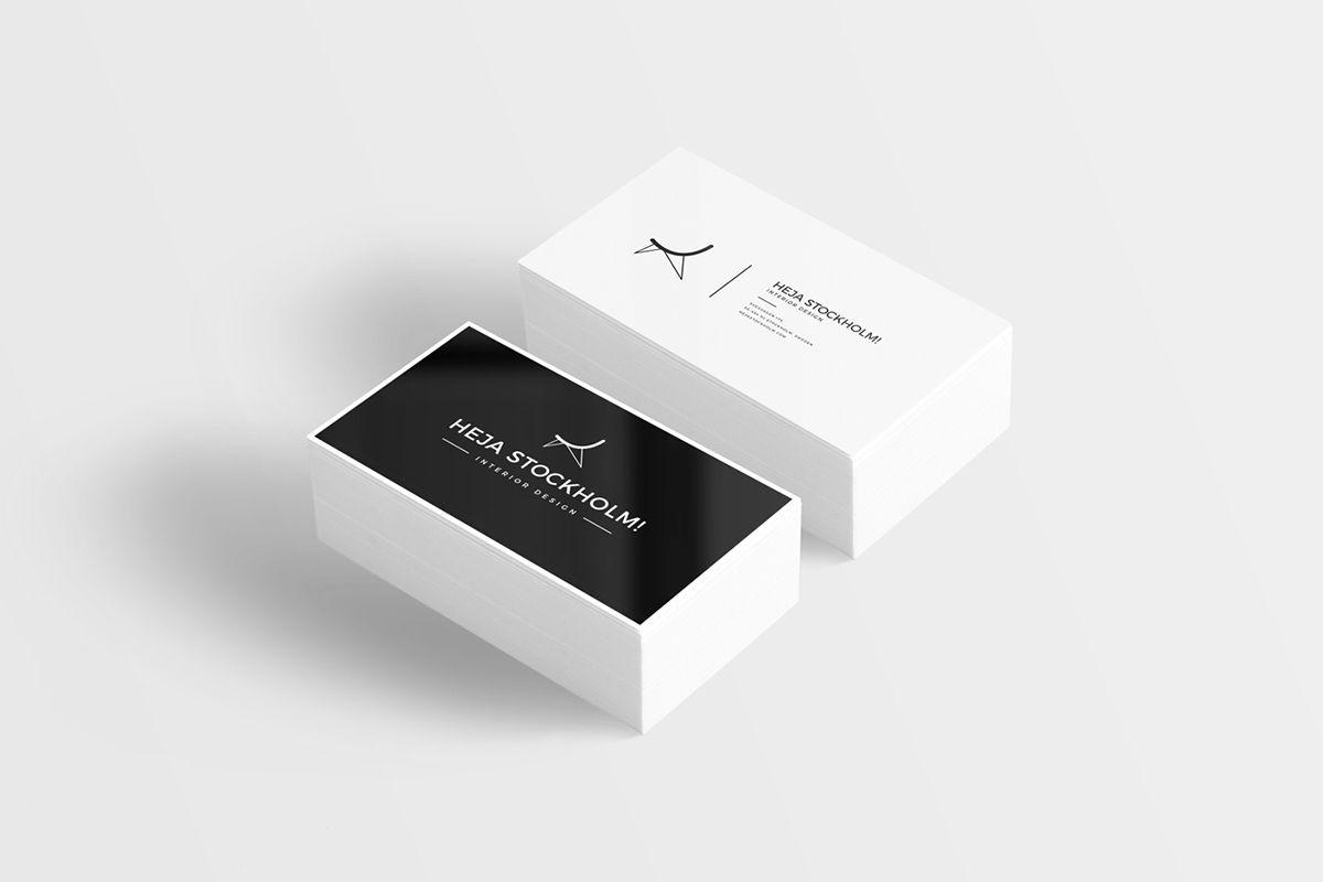 8 Free Clean Business Card Mockups | PSD on Behance | 서식류 디자인 ...