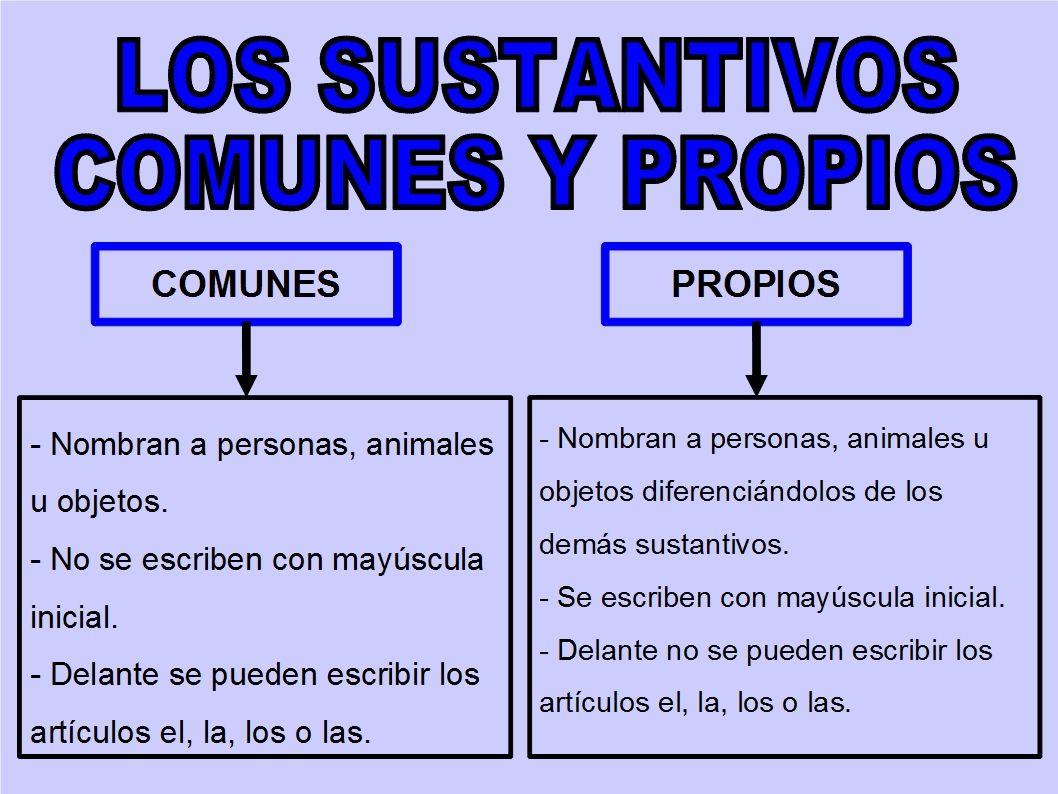 Sustantivos Comunes Y Propios Navega Y Aprende Sustantivos Adjetivos Y Verbos Adjetivos Sustantivos Y Adjetivos