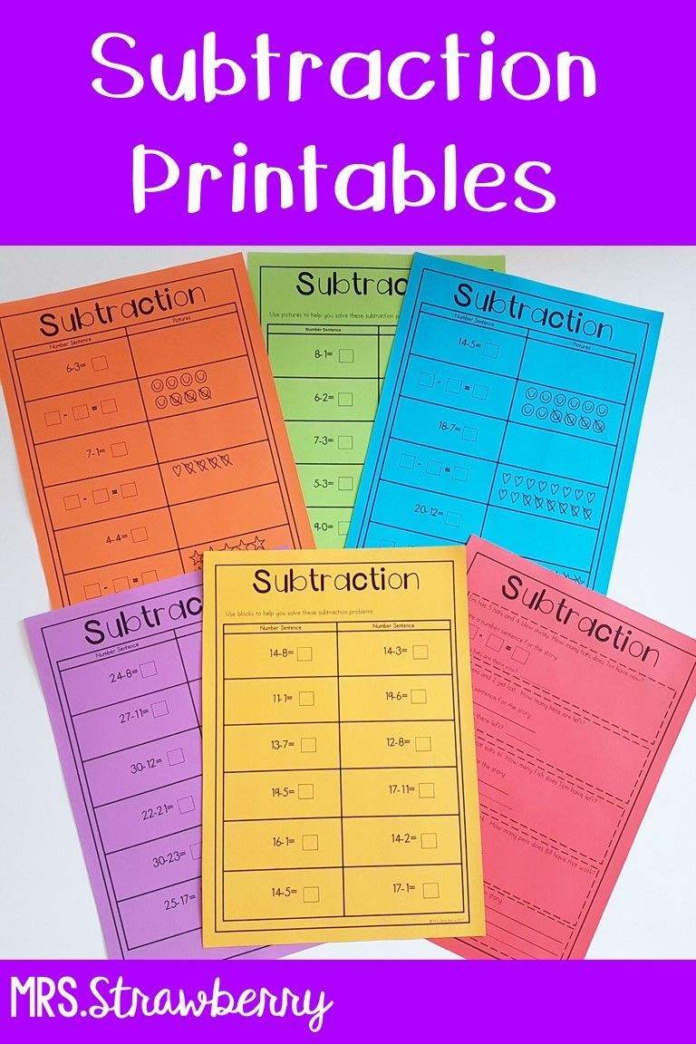 Subtraction Printable Worksheets Help Your Kindergarten 1st And 2nd Grade Elementary Primary Students Maste Subtraction Worksheets Subtraction Math Lessons [ 1152 x 768 Pixel ]