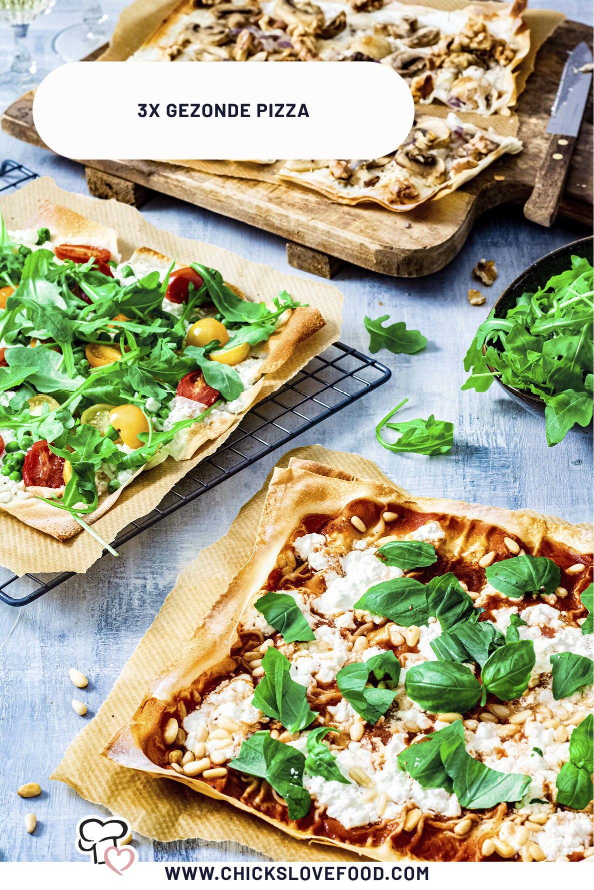 3x gezonde pizza - Chickslovefood