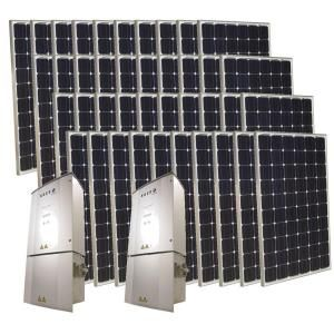 Grape Solar 10 000 Watt Monocrystalline Pv Grid Tied Solar Power Kit Gs 10k Kit At The Home Depot Solar Power Kits Best Solar Panels Solar Panels For Home