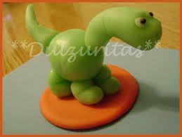 Resultado de imagen para dinosaurio en porcelana fria