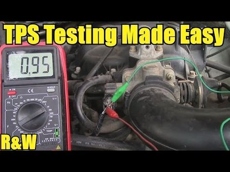 How To Test A Throttle Position Sensor Tps With Or Without A Wiring Diagram Youtube Automotive Repair Car Repair Diy Automotive Mechanic