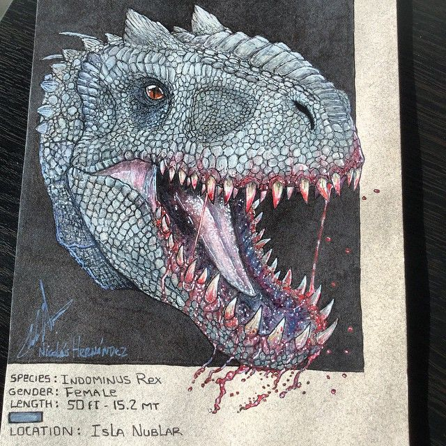 Indominus Rex info card finished and ready for