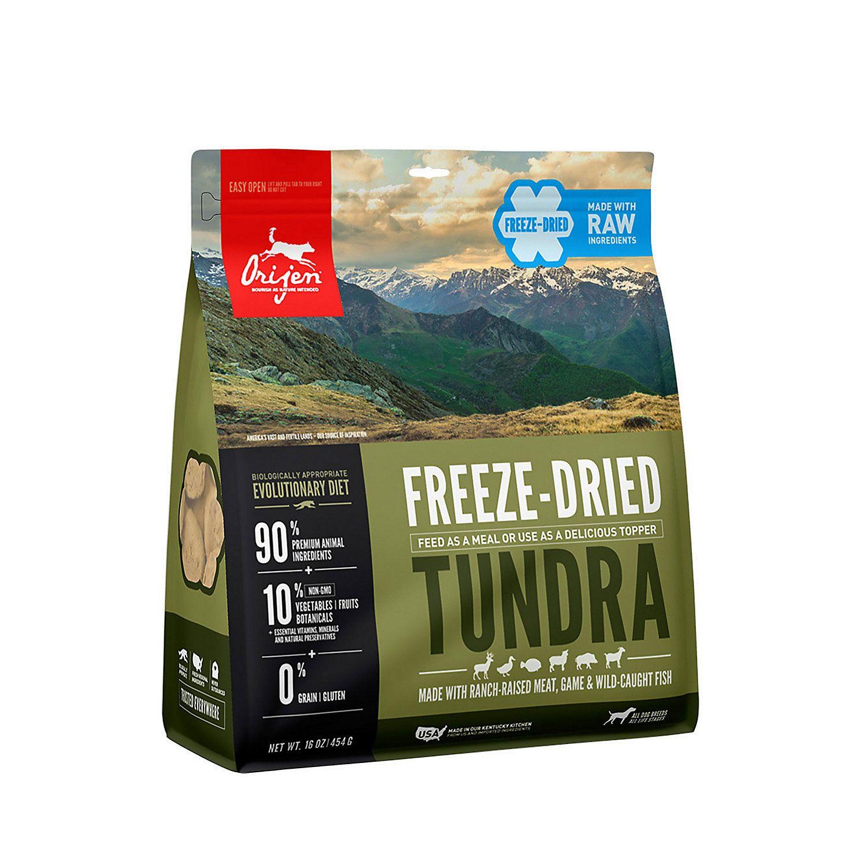 Orijen tundra freezedried dog food 16 oz dog food