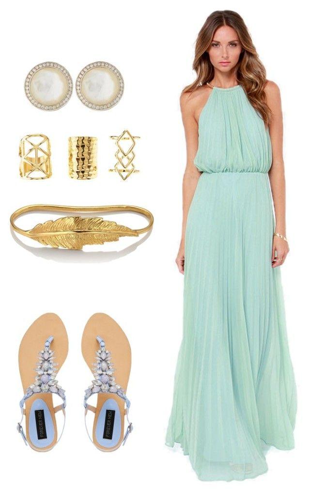Wedding guest beach formal by anjellybean on polyvore for Beach wedding dress code