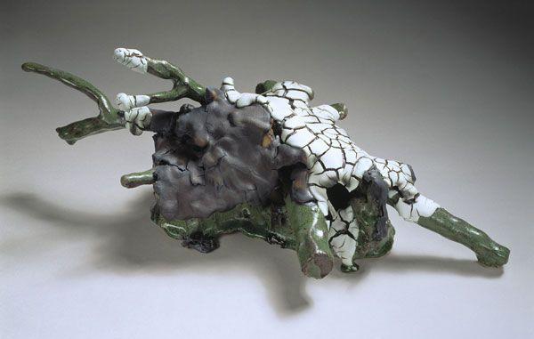 "Bente Skjøttgaard #stoneware [""root green black white""]"