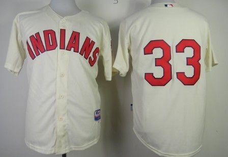 Cleveland Indians  33 Nick Swisher Cream Jersey  2c55ad1ab
