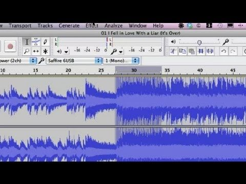 How to Fix the Quality of a Song With Audacity : Audio