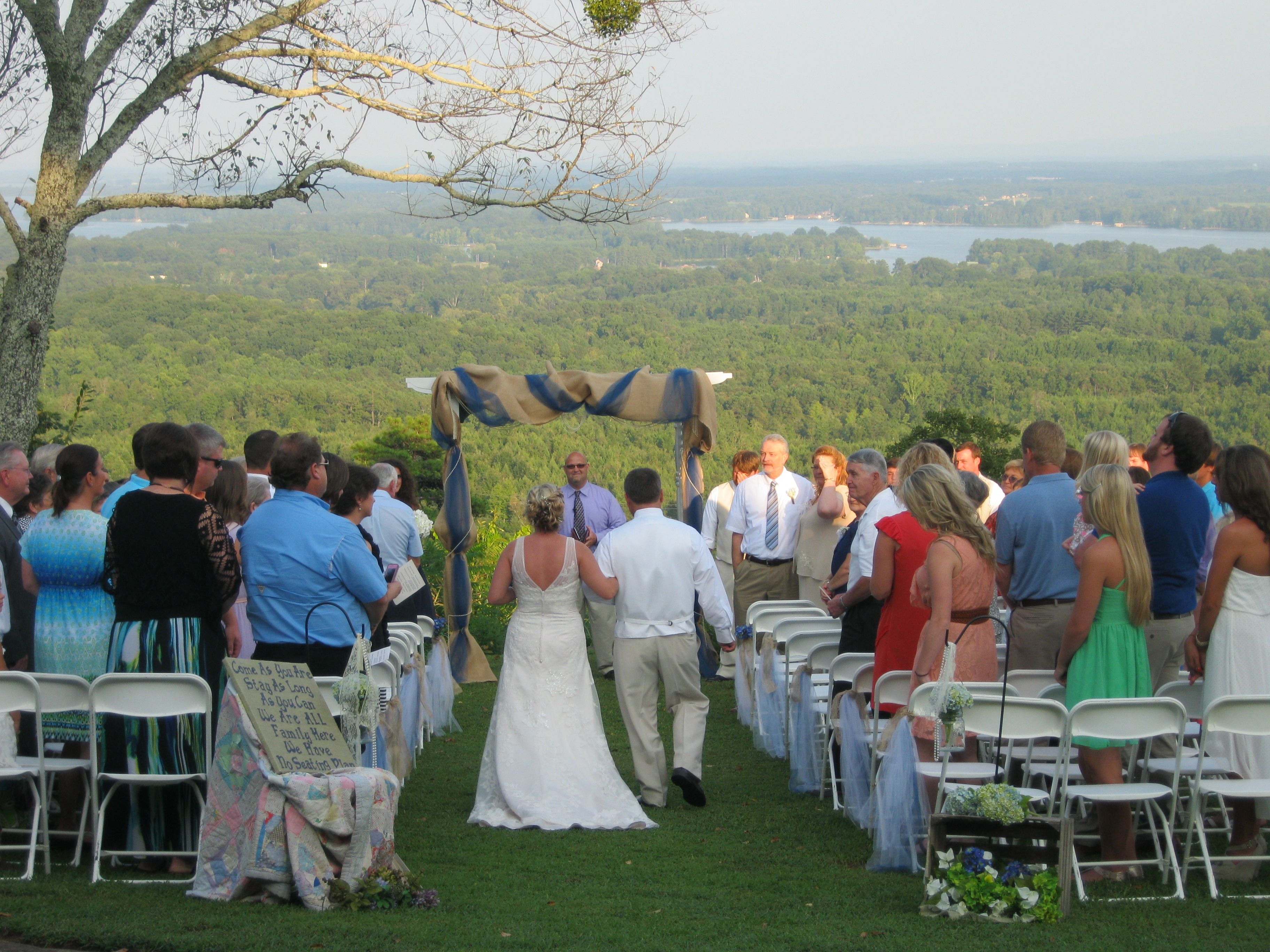 Wedding at The Secret B&B in Leesburg AL overlooking lake