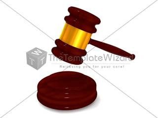 thetemplatewizard law hammer professional cliparts for powerpoint