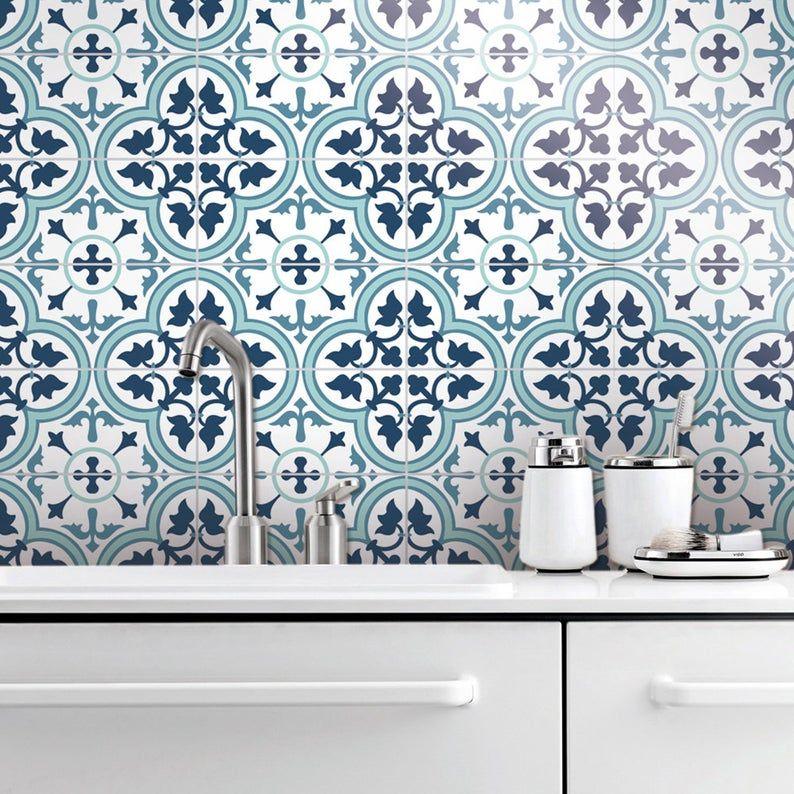 Tile Decal Mosaic Wall Art Tile Stickers Mosaic Tiles Tiles Tile Vinyl Floor Tiles Peel And Stick Tile Tile Mural Pack 24 Sku Ltd Vinyl Wall Tiles Tile Decals Mosaic Wall