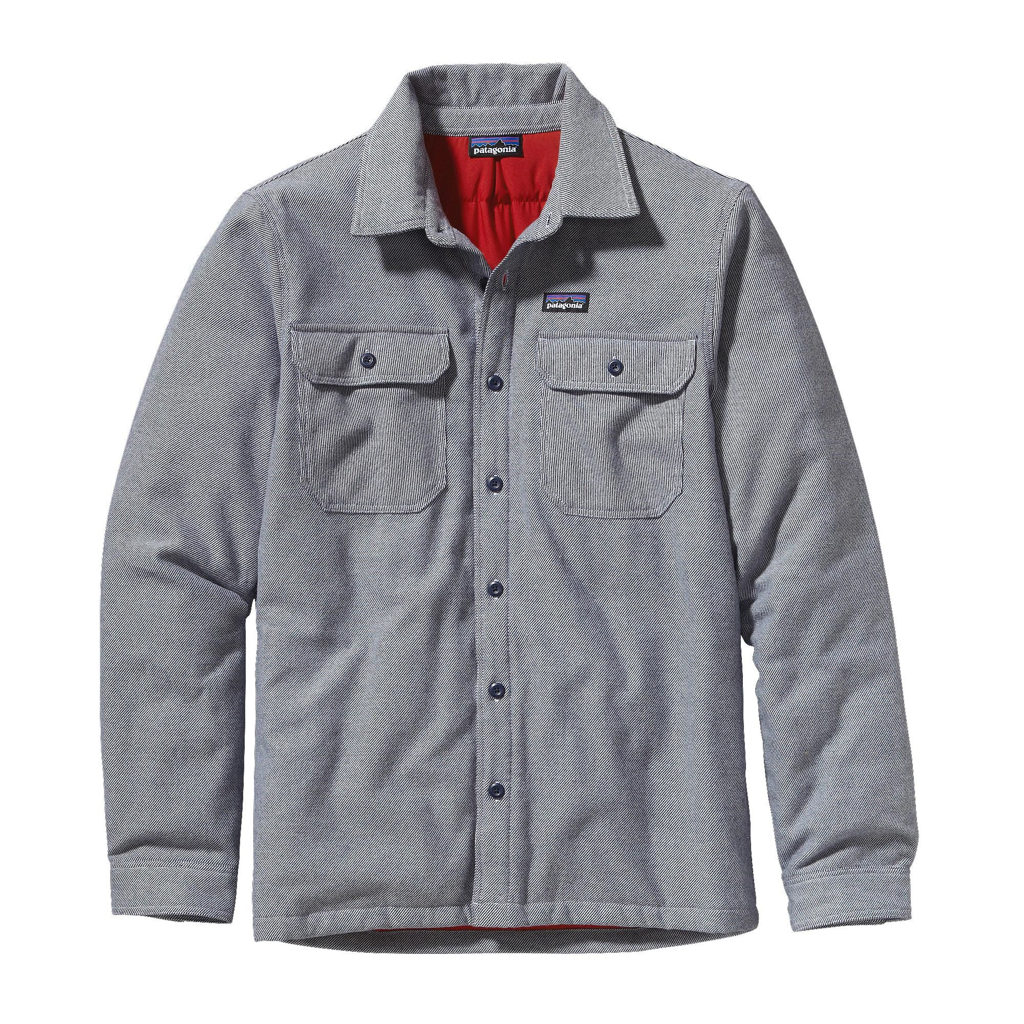 5ea9d4e1dca Patagonia Men s Insulated Fjord Flannel Jacket - This heavyweight organic  cotton flannel shirt insulated with 60-g Thermogreen® 100% polyester (90%  ...