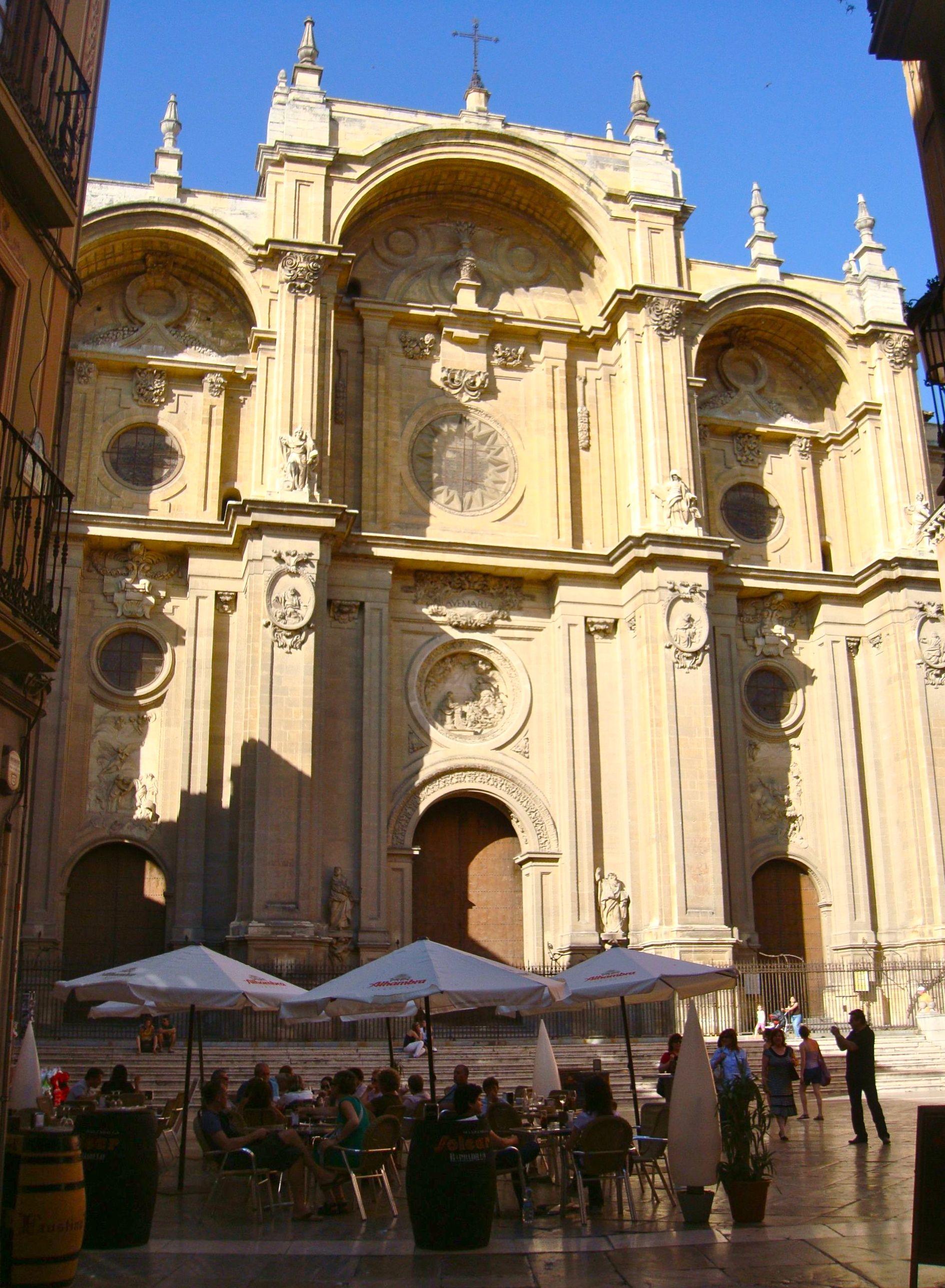 Fachada barroca de Alonso Cano - Catedral de Granada - ESPAÑA