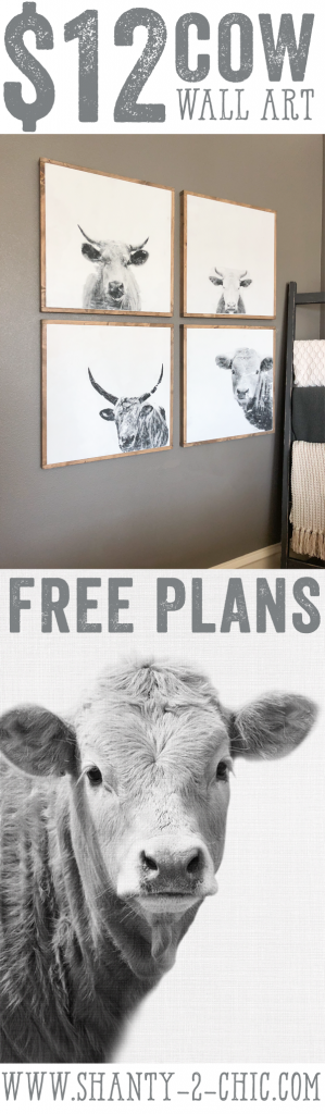 Diy Cow Wall Art Kitchen Christmas