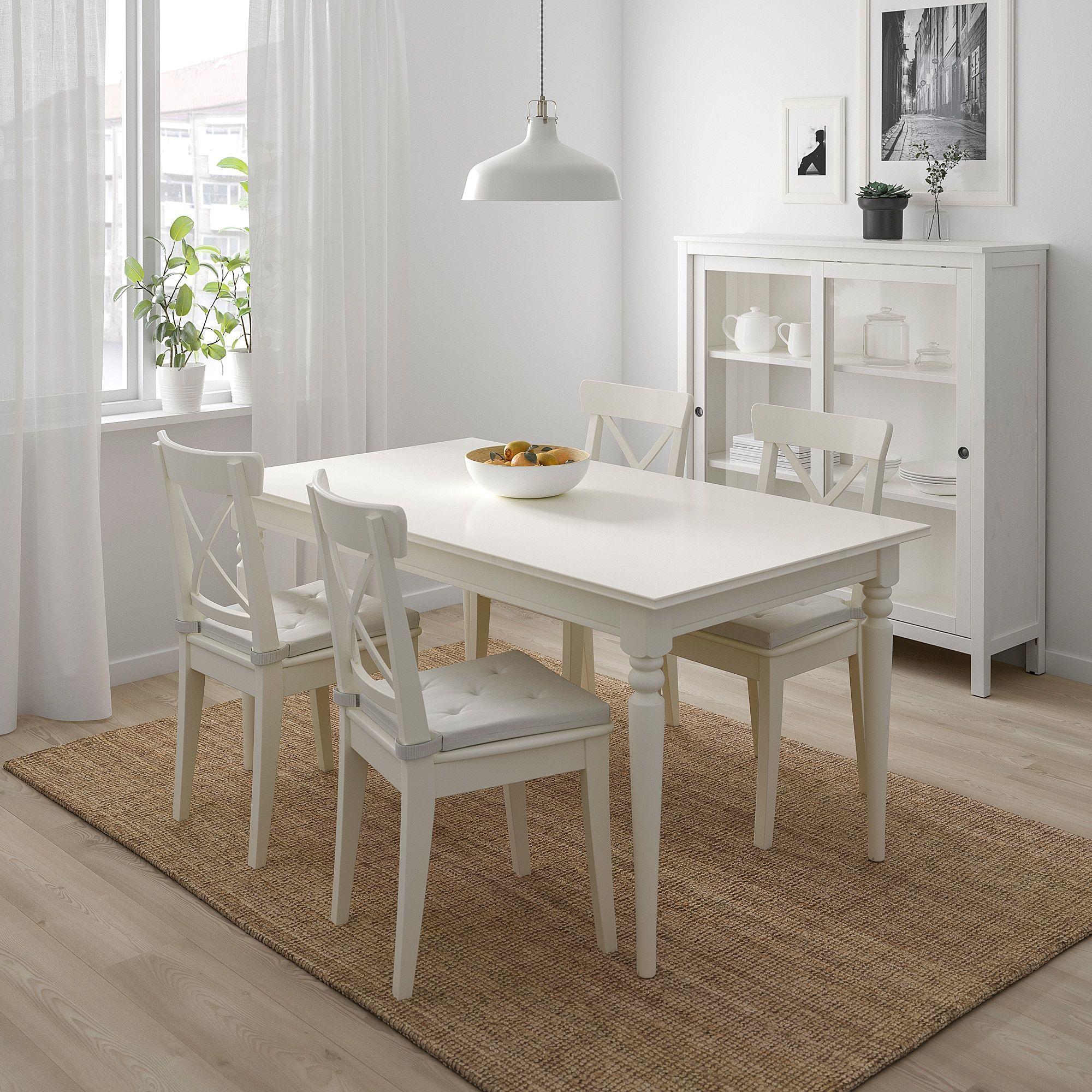 IKEA - JUSTINA Chair pad natural | Mesa de comedor blanca ...