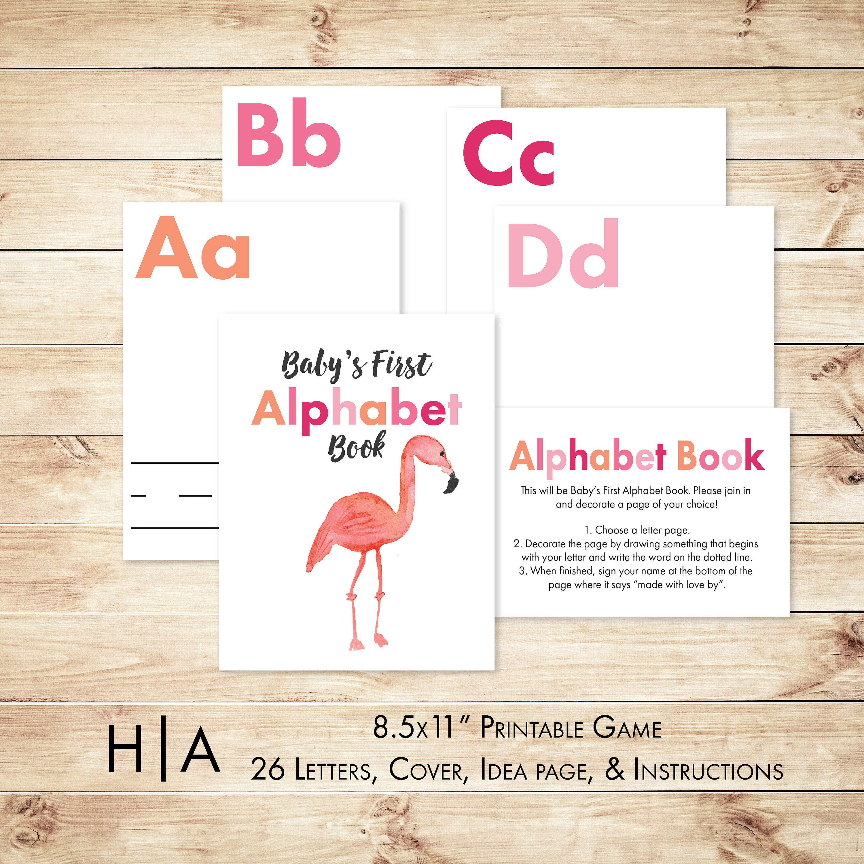 Alphabet Game Baby Shower Diy Abc Book 85X11