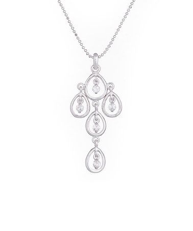 Loving this Silvertone Crystal Pendant Necklace With Crystals from SWAROVSKI on #zulily! #zulilyfinds