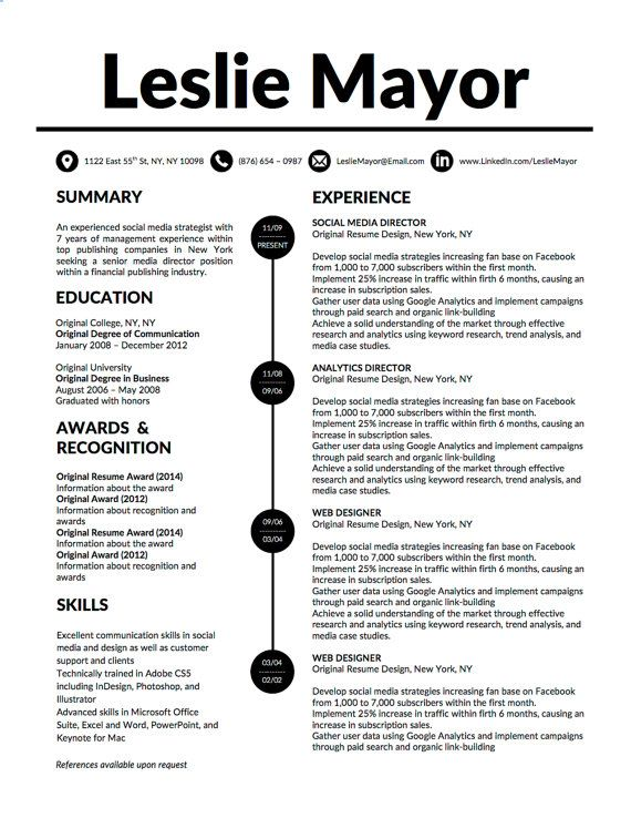 Modern Resume Design For Microsoft Word With Matching Cover Letter