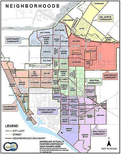 Huntington Beach City School District Boundary Map