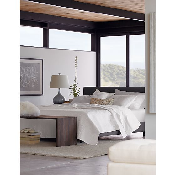 Tate Bed In Beds Headboards Crate And Barrel With Bench