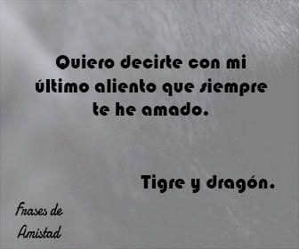 Frases De Peliculas De Amor De Tigre Y Dragon Frases De Amor