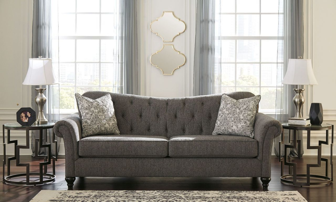 Ashley Praylor Slate Sofa Couch On Sale At Wcc Furniture Mattress Serving Lafayette La And Acadiana Slate Sofa Furniture Gorgeous Sofas