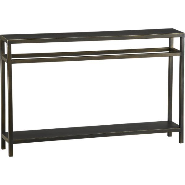 Charmant Echelon Console Table With Neutral Bronze Finish From Crate And Barrel. And  Only 8 Inches Deep! Could Go Anywhere.