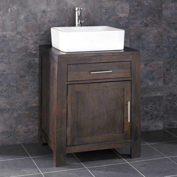 Bathroom Cabinets 50cm Wide alta solid oak bathroom cabinet with basin | bathroom sinks