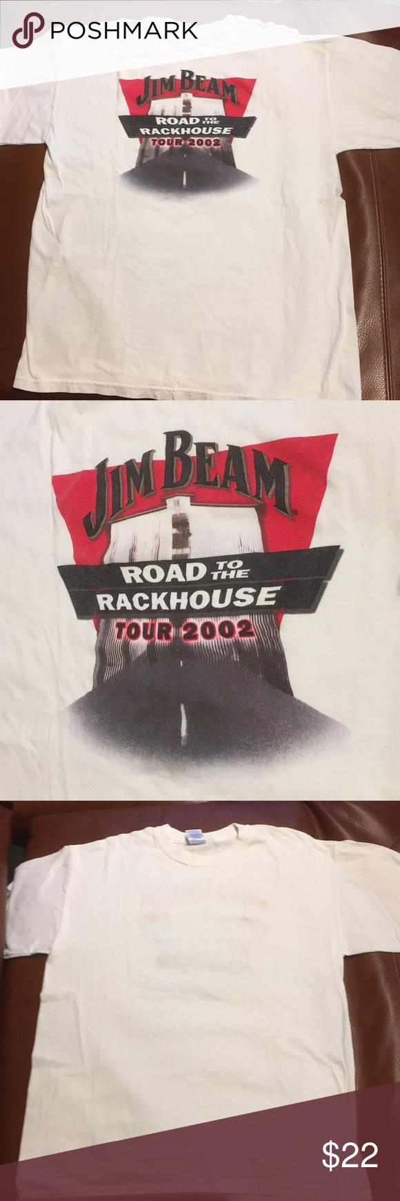 Jim Beam Road to the Rackhouse Tour 2002 XL Tshirt