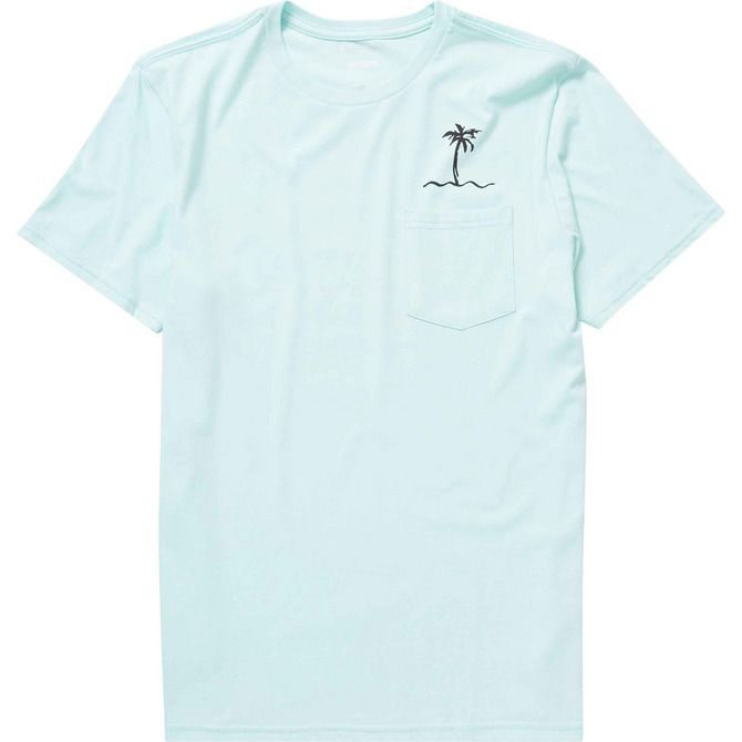 9813c0e2 Keep it simple with this palm print storage tee. Minimalist artwork is  printed at the back and chest of this premium pocket t-shirt. Premium short  sle.
