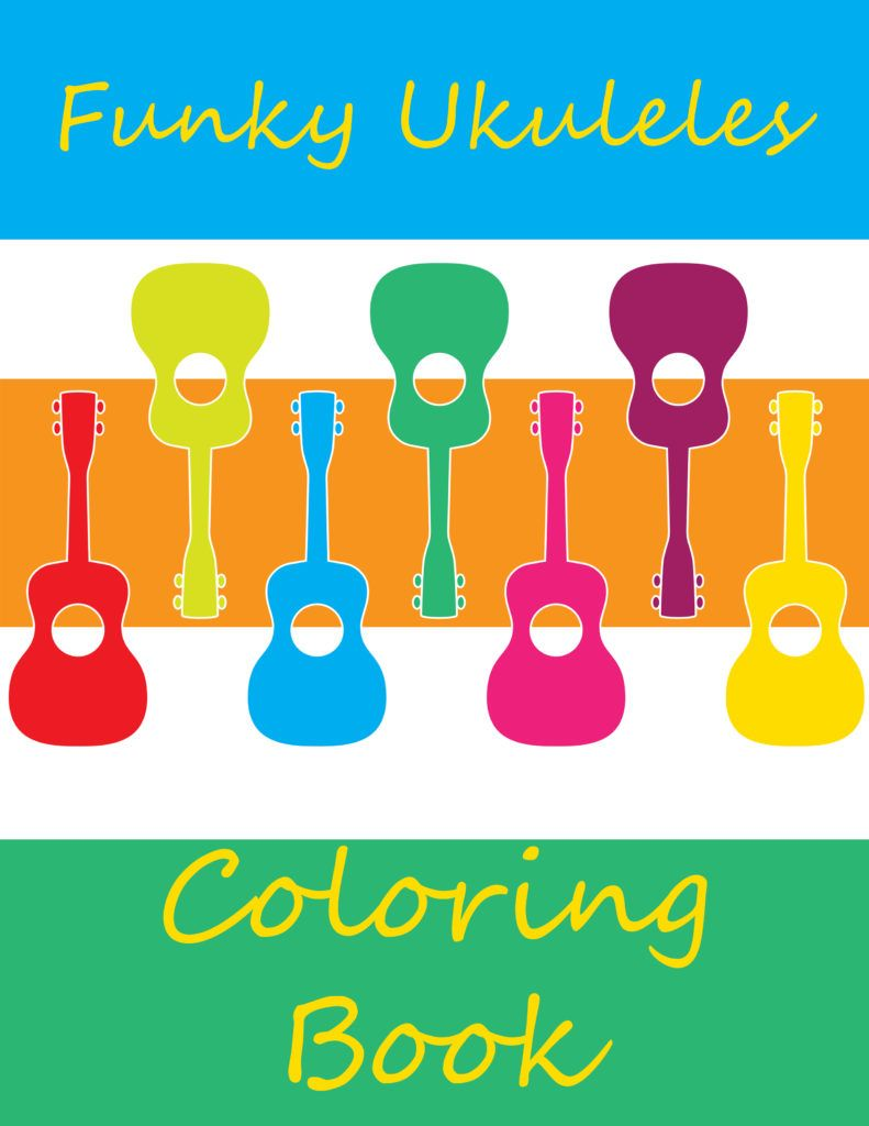 Funky Ukuleles Coloring Book Plr Coloring Books Funky Color