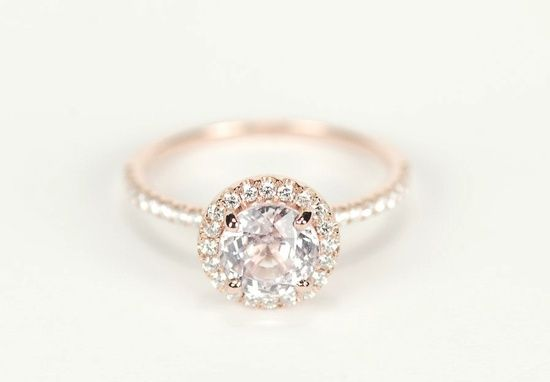 Gorgeous Rose Gold Engagement Ring Love This So So Much Simple
