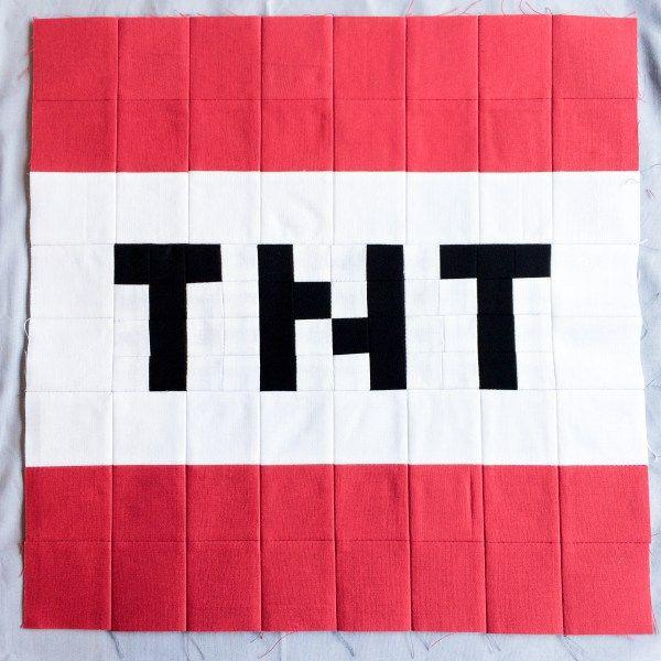 Minecraft quilt block 14 tnt minecraft quilt kid for Minecraft tnt block template