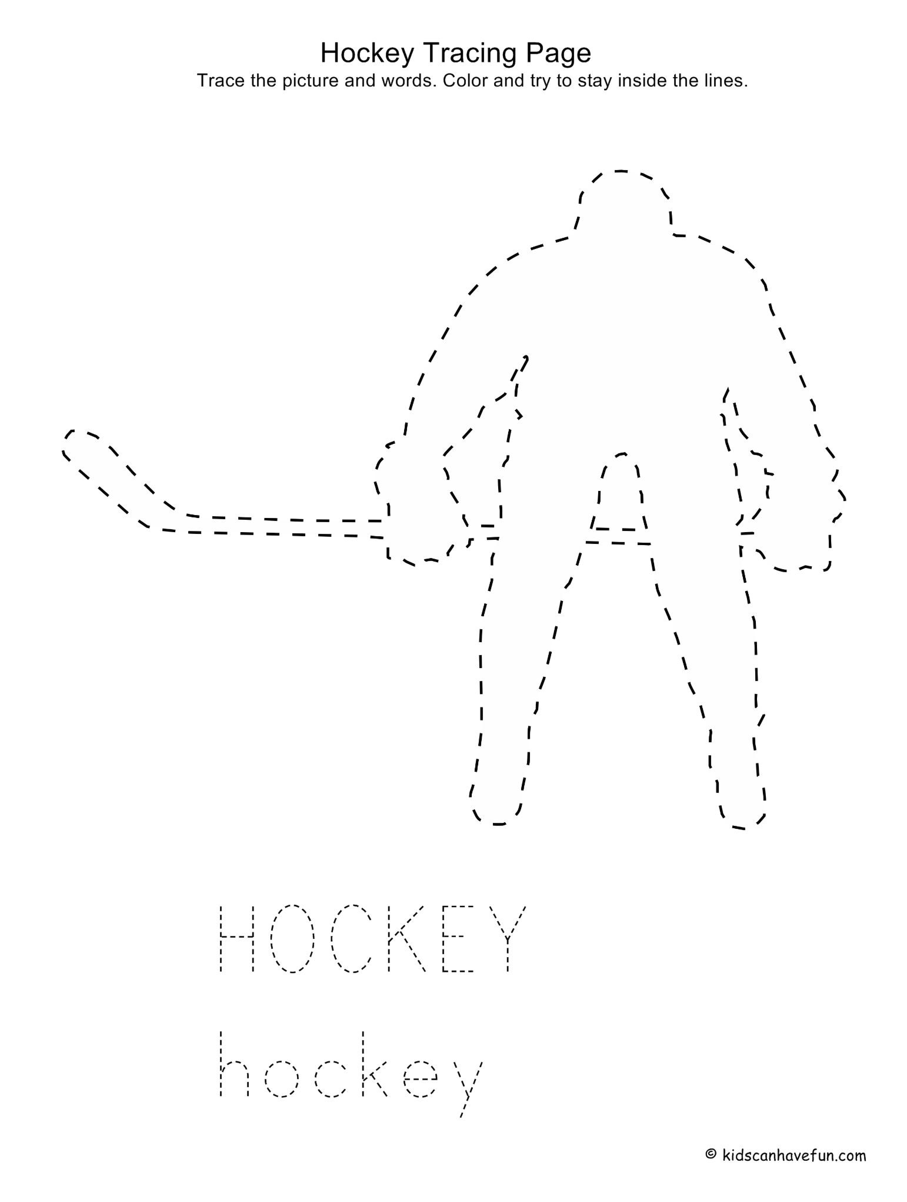 Sports Tracing Worksheets In