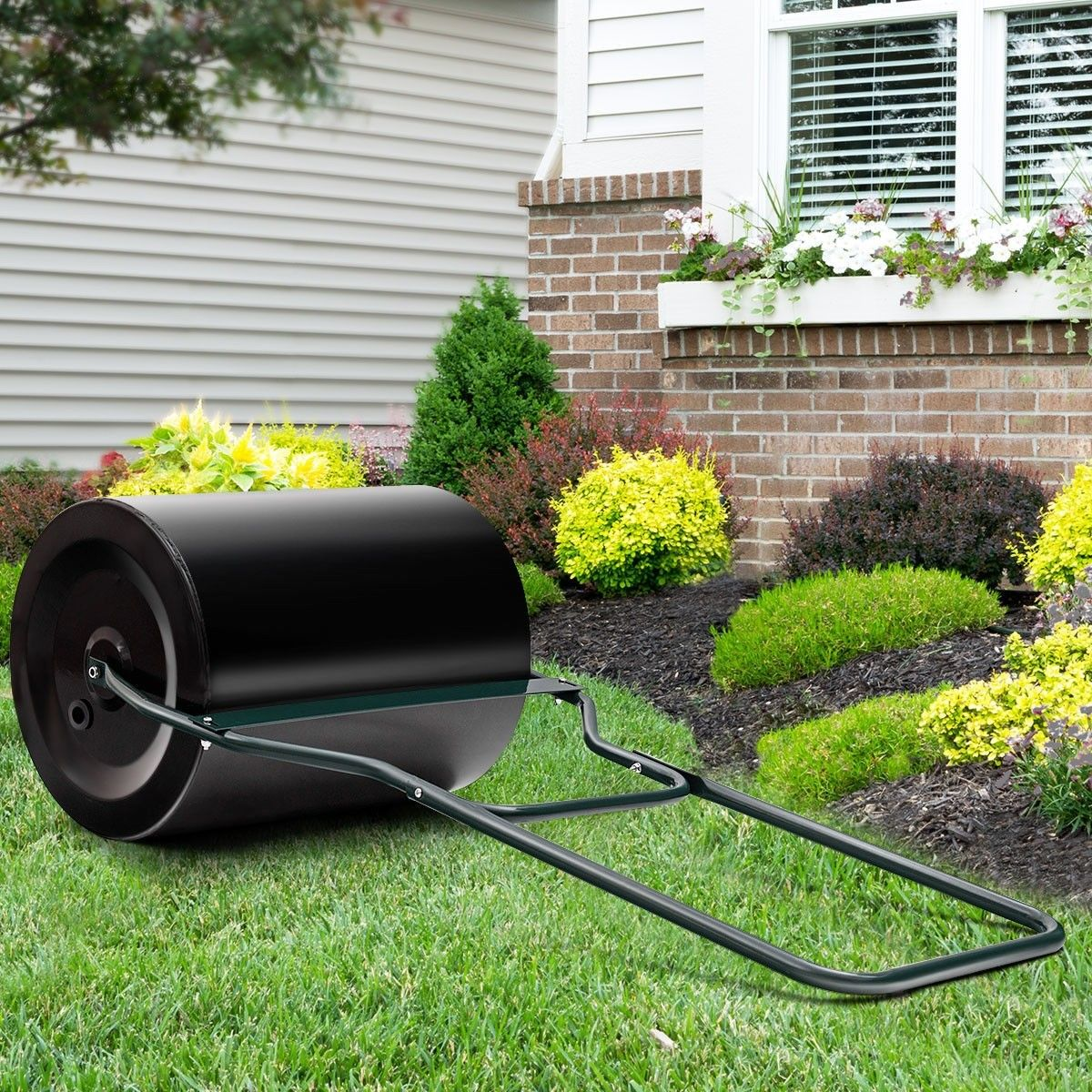 Heavy Duty Poly Push Tow Lawn Roller Poly Roller Lawn Rollers
