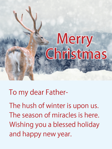 Wishing You A Blessed Holiday Merry Christmas Wishes Card For Father Birthday Greeting Cards By Davia Merry Christmas Wishes Christmas Wishes Birthday Greeting Cards