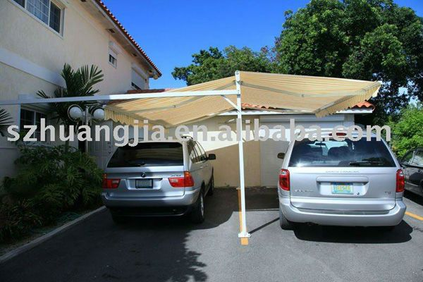 Freestanding Retractable Car Awning 1 Water Repellent 2 Fade Resistant 3 Uv Protection 4 Easy Installation Car Awnings Awning Outdoor Decor