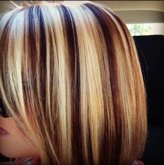 Multi Colored Highlight Lowlight Hair Streaks Hair