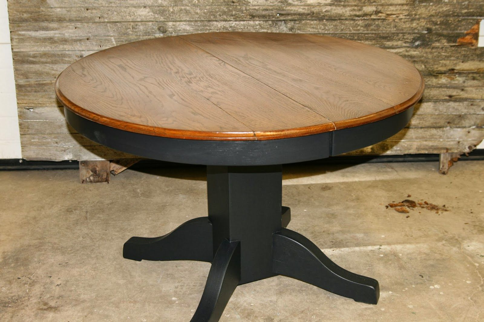 stained top black bottom kitchen table tables and sets